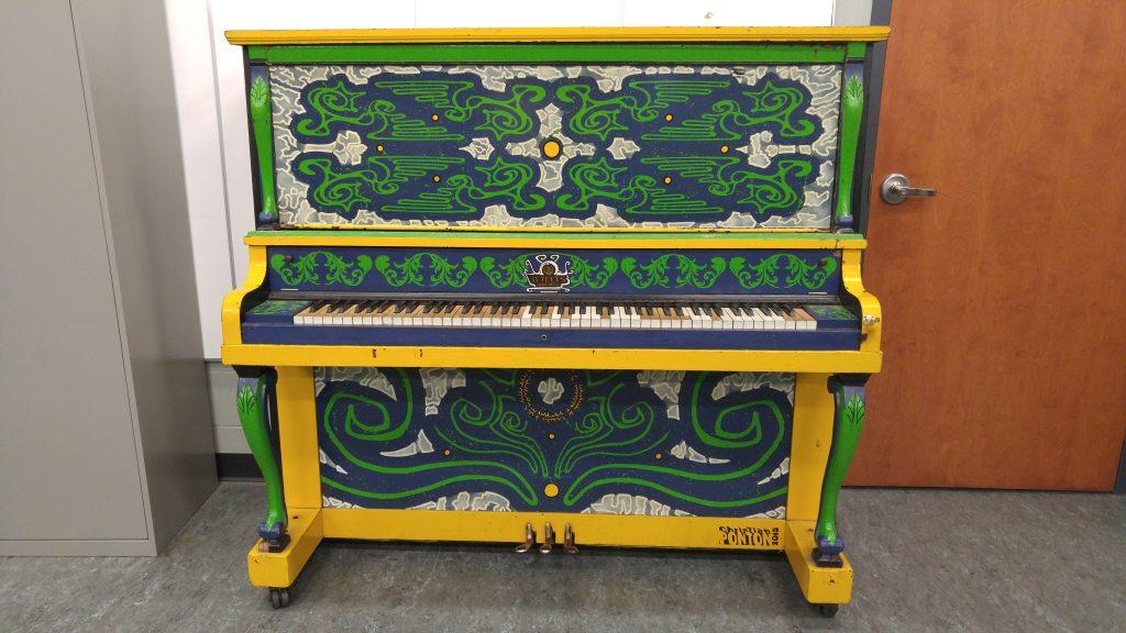 Piano peint-Christian Ponton